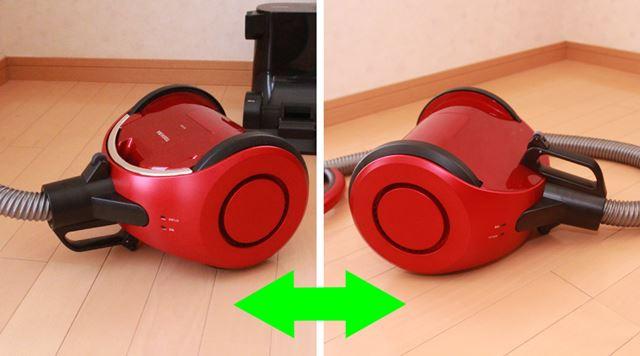 上下対象デザインで、動かしながら上下を反転させてそのまま使用できるのがユニーク!