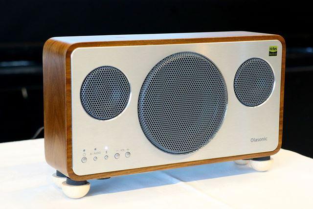 OlasonicのBluetoothスピーカー、IA-BT7。高音質なBluetoothコーデックであるLDACとaptX HDに対応する