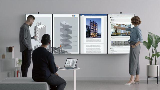「Surface Hub 2」は会議やプレゼンテーションなどオフィスでの利用が想定されている