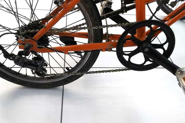 変速機構、および駆動機構は信頼と実績のあるシマノ製