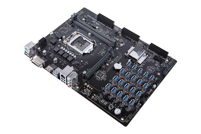 PCIeのUSBポートを20基搭載する「H370 Mining Master」