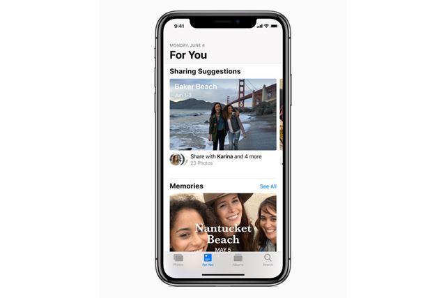 「Apple Music」と同じ「For You」というタブが追加された写真アプリ