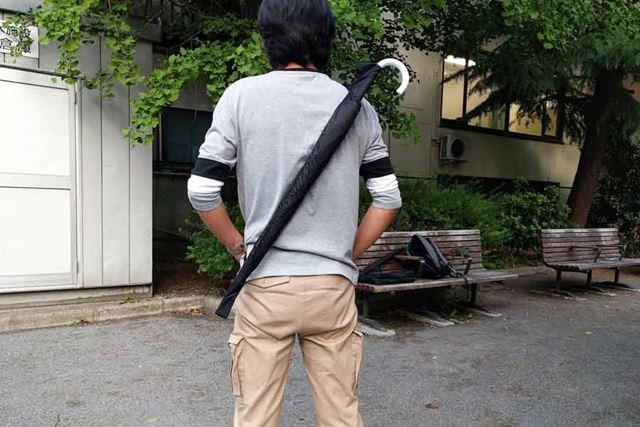 日本刀のように背負える「カサケース」!