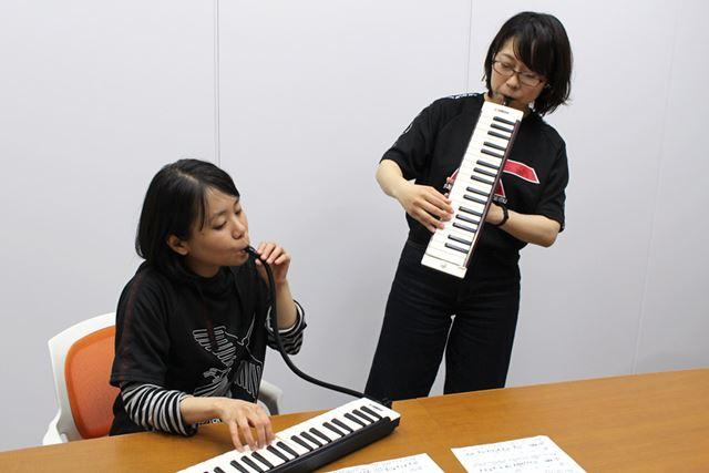 演奏スタイルに応じて、2種類の吹き口を使い分けるとイイ感じ