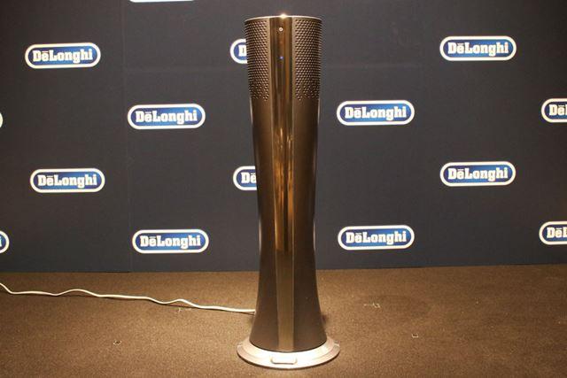 スリムなフォルムのHFX85W14Cのサイズは270(直径)×850(高さ)mmで、重量は7.2kg