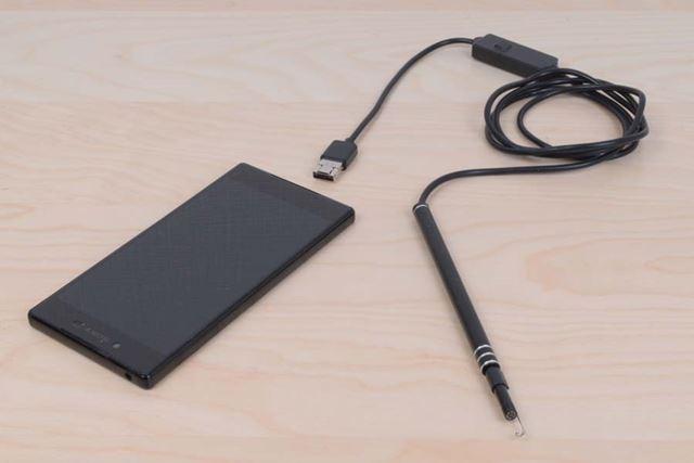 ケーブル長は1,25m、本体重量は55g※スマートフォンは製品に含まれません