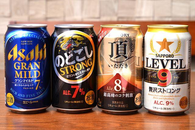 アルコール度数7〜9%の注目新製品を飲み比べ!