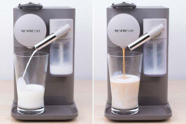 入れた分だけフォームドミルクが作られる仕組みだ