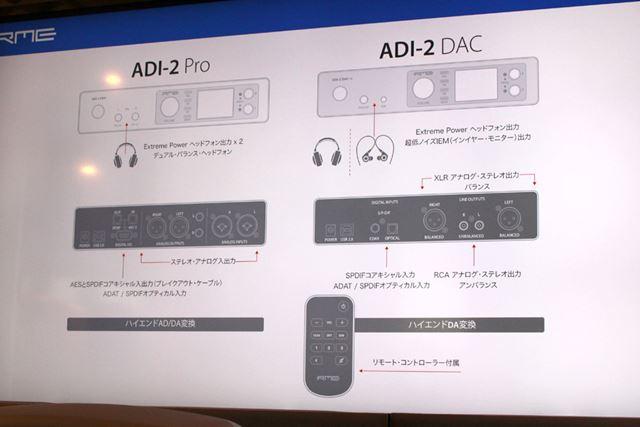 ベースモデルADI-2 Proとのインターフェイス部比較
