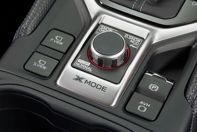 スバル 新型フォレスターの「X-MODE」スイッチ