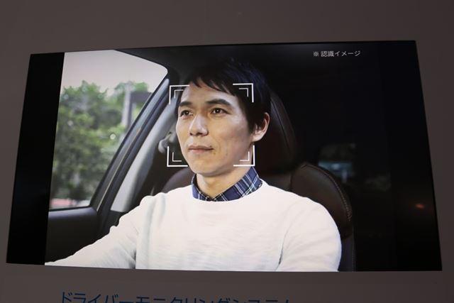 スバル 新型フォレスターに搭載されている「ドライバーモニタリングシステム」による顔認識イメージ