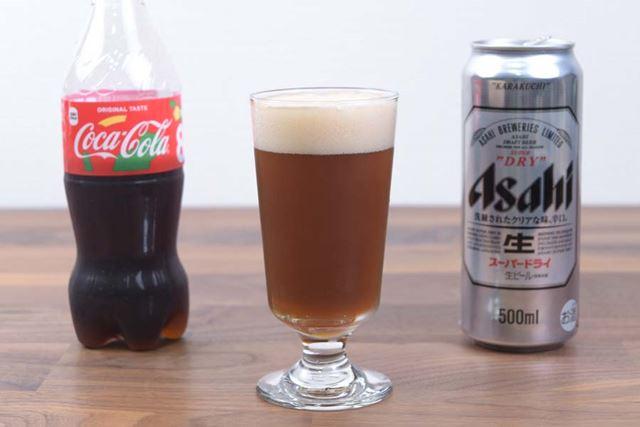 ちなみにダイエットコーラでも試してみたが、通常のコーラを使用したほうがコクがありおいしかった
