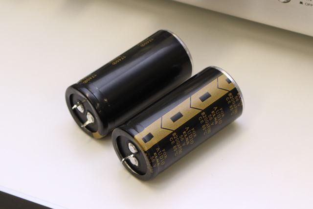 電源回路も専用開発の大容量コンデンサーを使用するなどして、安定性を高めている