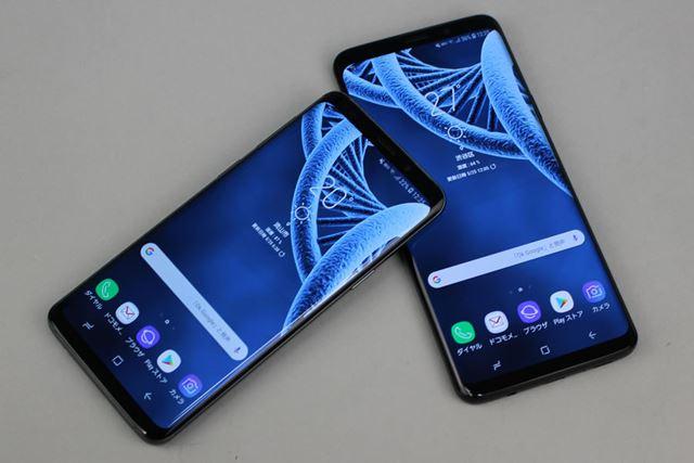 売上高減少の原因のひとつと見られている「Galaxy S9」(写真左)