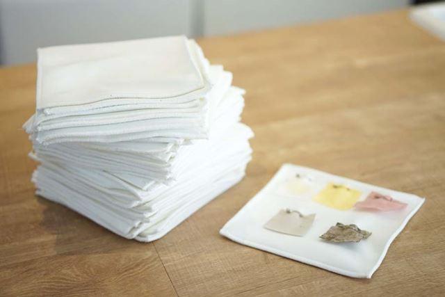 条件が一定になるように、「負荷布」という布(2kg分)と一緒に洗います