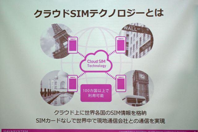 インターネット上に保存したSIMカードのデータを随時ダウンロードするクラウドSIMテクノロジーを採用する
