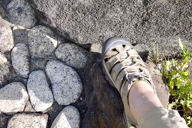 サンダルなのにつま先があるという安心感。岩場なんかも怖くありません