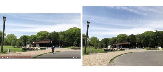 iPhone X 動画(左)、iPhone X 静止画(右)