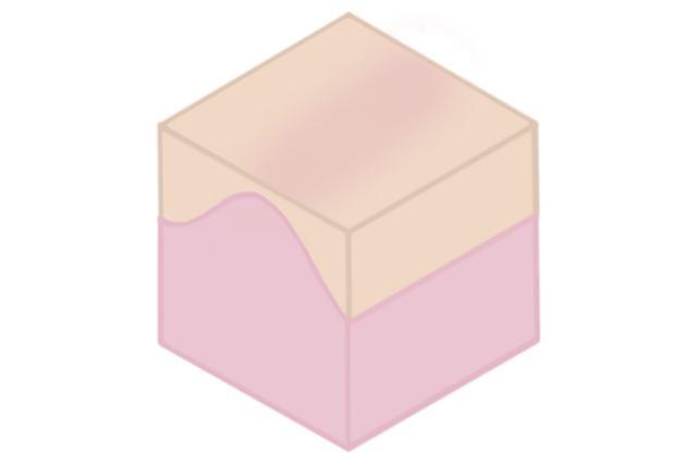このように体の構造に合わせて、透過する部分の厚みを変えて成形されています