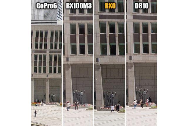 【左部】端においては、RX100M3の描写がややヌルくなっています