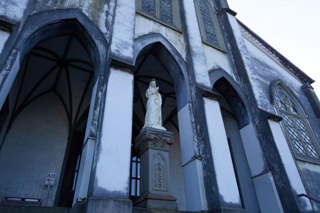 同、長崎・大浦天主堂(国宝)の聖マリア像
