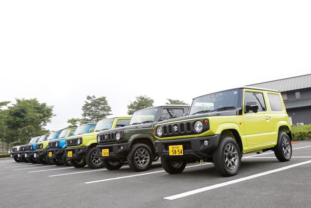 スズキ 新型「ジムニー」「ジムニーシエラ」試乗会場にて撮影