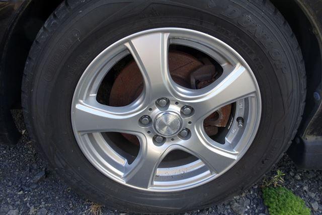 ペシャンコに近い状態まで空気が減っていたタイヤも、このとおり