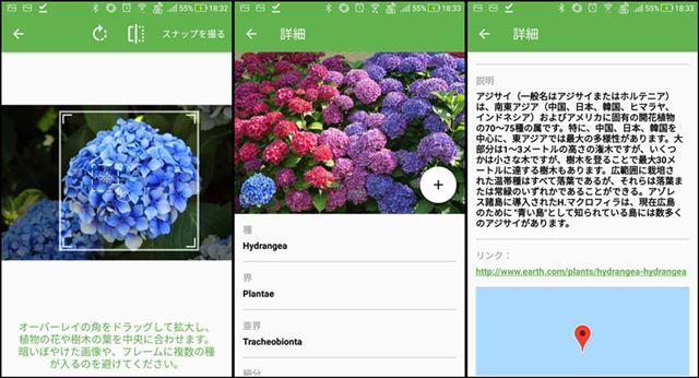 植物を写真から認識する「PlantSnap」