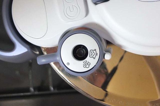 セレクターの圧力鍋マークを目印位置に合わせます