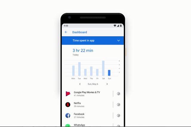 スマホの使いすぎ対策として、ユーザーの利用時間を記録して可視化する「Dashboard」が搭載される