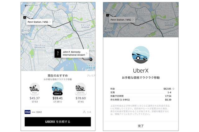 タクシー配車アプリの「Uber」