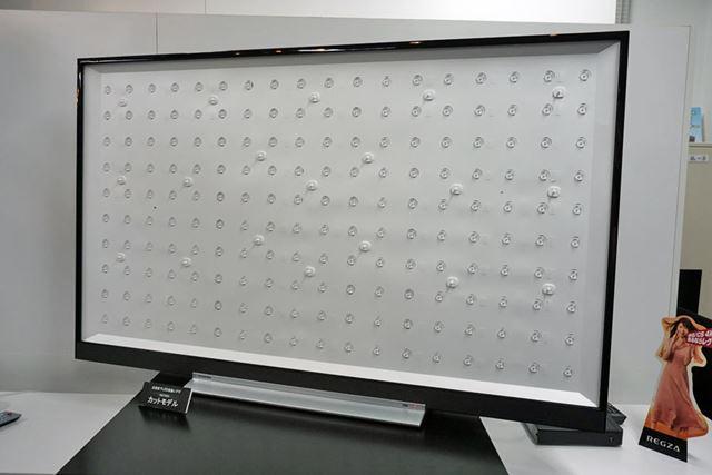 「REGZA Z720X」シリーズに搭載されている全面直下LEDバックライト