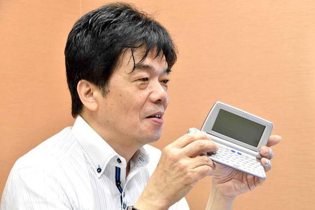 入鹿山氏は、キャスピーのような端末で、身体に不自由がある人もPDAが使える世界を目指していた