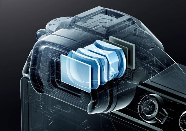 有機ELパネルだけでなく、その前面に配置された光学設計にまでこだわった液晶ビューファインダー
