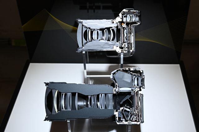 ZシリーズとDシリーズの断面模型