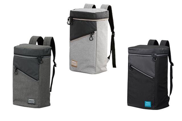 「デイパック DP-021Q」。カラーは左からメランジ、メランジベージュ、ブラックの3色で展開