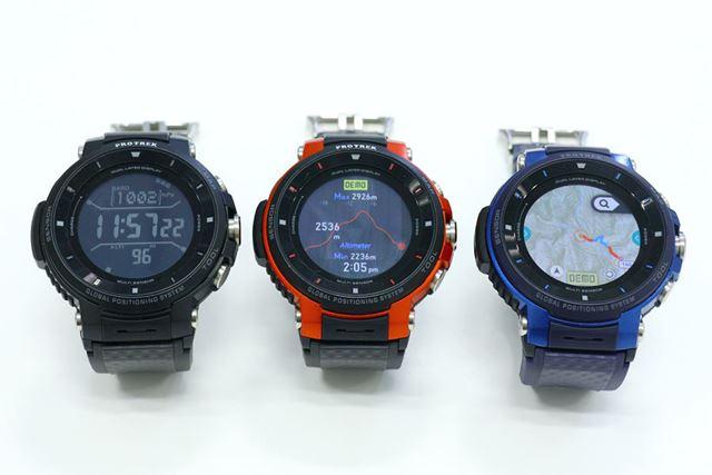 カラーはブラック、オレンジ、ブルーの3色をラインアップ