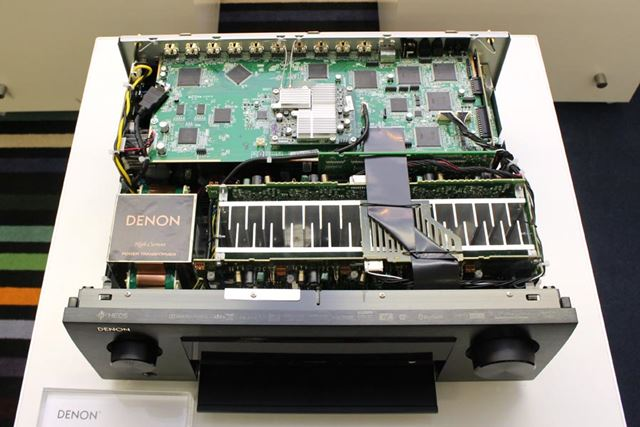 AVR-X4500Hのトップカバーを開けたところ