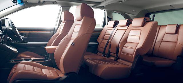 ホンダ 新型CR-V 7人乗りモデルの3列シート