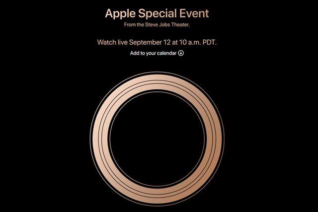 アップルが公開したイベントページにはブロンズ色のリングが表示されています