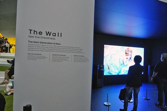 マイクロLEDディスプレイの「THE WALL」