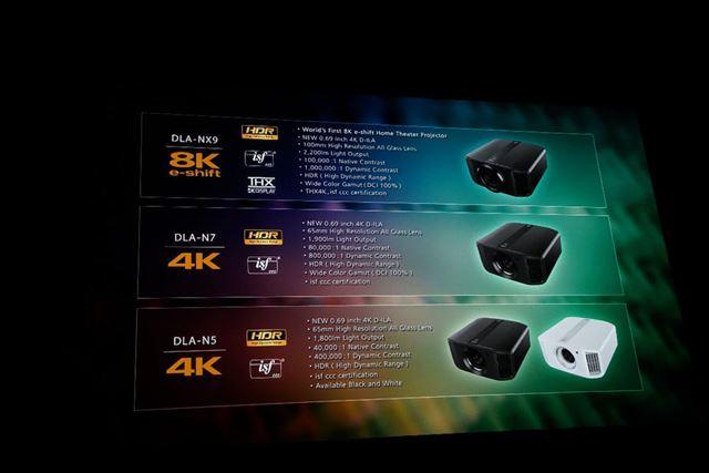 4Kプロジェクター「DLA-N7」「DLA-N5」も同時に登場予定だ