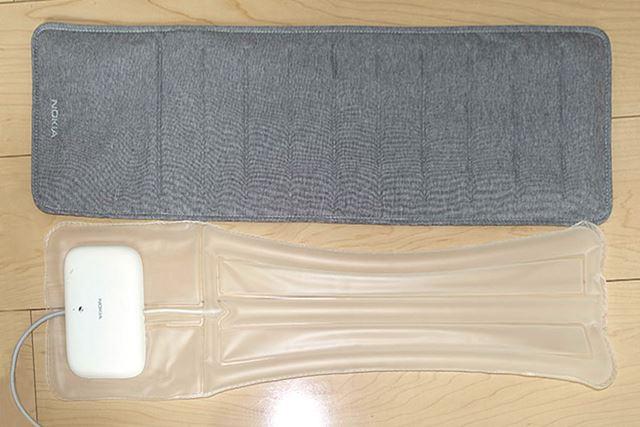 カバーの中身はこんな感じ。この風船みたいなヤツで、布団の圧力などを検知しているようです
