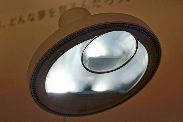 LEDを3か所、上向きに配置しています