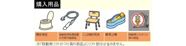割引で購入できる用品は図の5種目