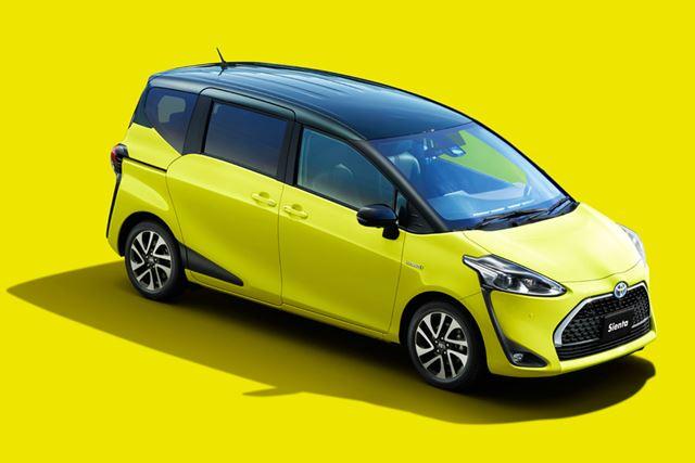 現行モデルで初のマイナーチェンジが施される、トヨタ「シエンタ」。今回のマイナーチェンジの目玉は、5人乗り2列シート車の追加だ