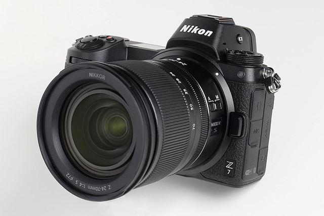 9月下旬に登場するZ 7(装着しているレンズはNIKKOR Z 24-70mm f/4 S)