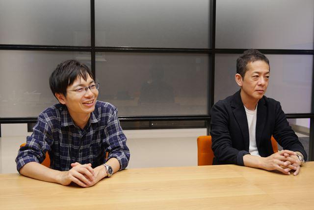 左がプロデューサーの下元学氏、右がブランドディレクターの河野一聡氏