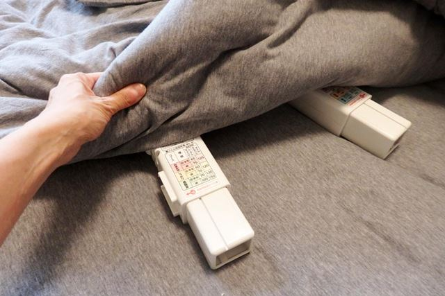 湿気が飛んで、ドライ感がすごい! この布団で寝るのは気持ちよさそうです