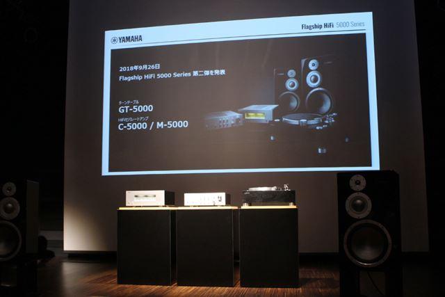 GT-5000のほか、同じく5000シリーズの新モデルとして、セパレートアンプも同時発表された。詳細は後述する
